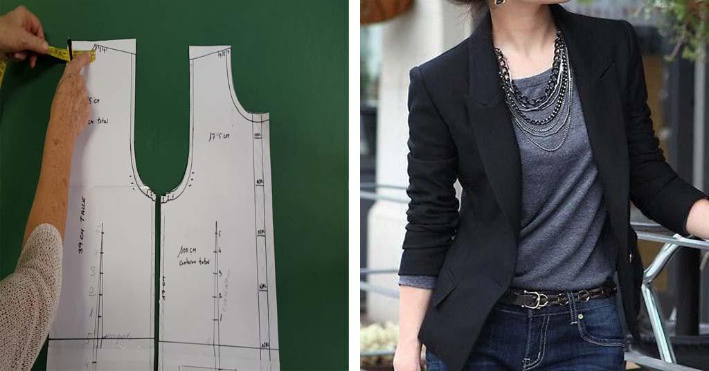 Aprende como hacer patrón de una chaqueta base