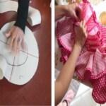 Aprende como hacer volantes de tela