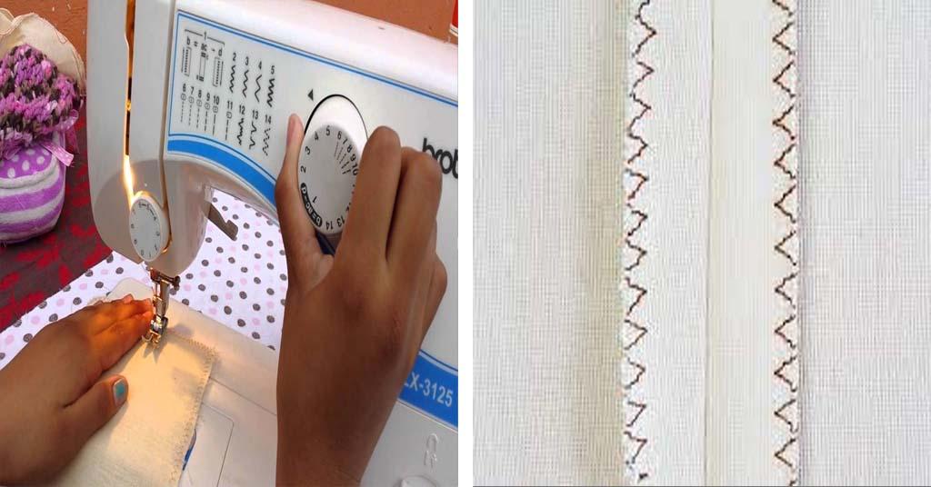 Aprende como coser puntada overlock en zigzag con tu máquina de coser casera